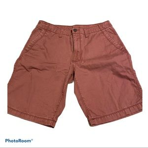Mens Old Navy Red Cargo Shorts Sz 33